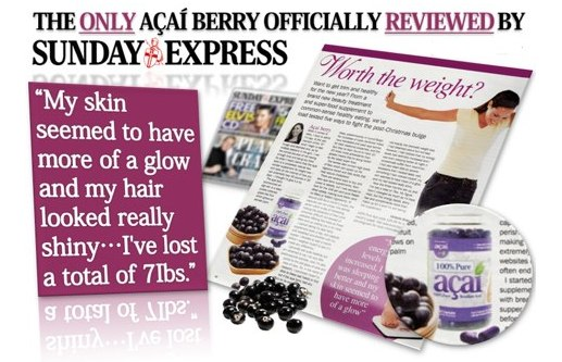 Acai in the sunday express nespaper