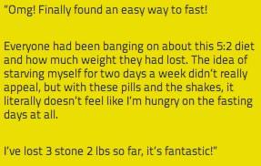 52 fast diet testimonials