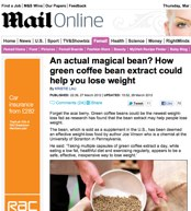 green coffee Daily Mail