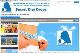 Secret diet drops website UK