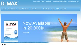 Website for Vitamin Max 2