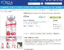 Website for Forza Raspberry Ketone