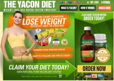 Yacon Diet website for UK