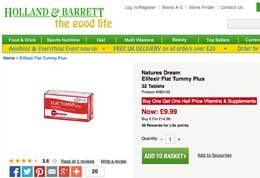 Flat Tummy Plus at Holland and Barrett