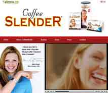 official website of coffee slender